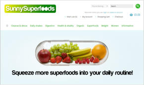 Sunny Superfoods Ltd - supplier of superfood supplements, meal replacements, protein shakes and herbal products